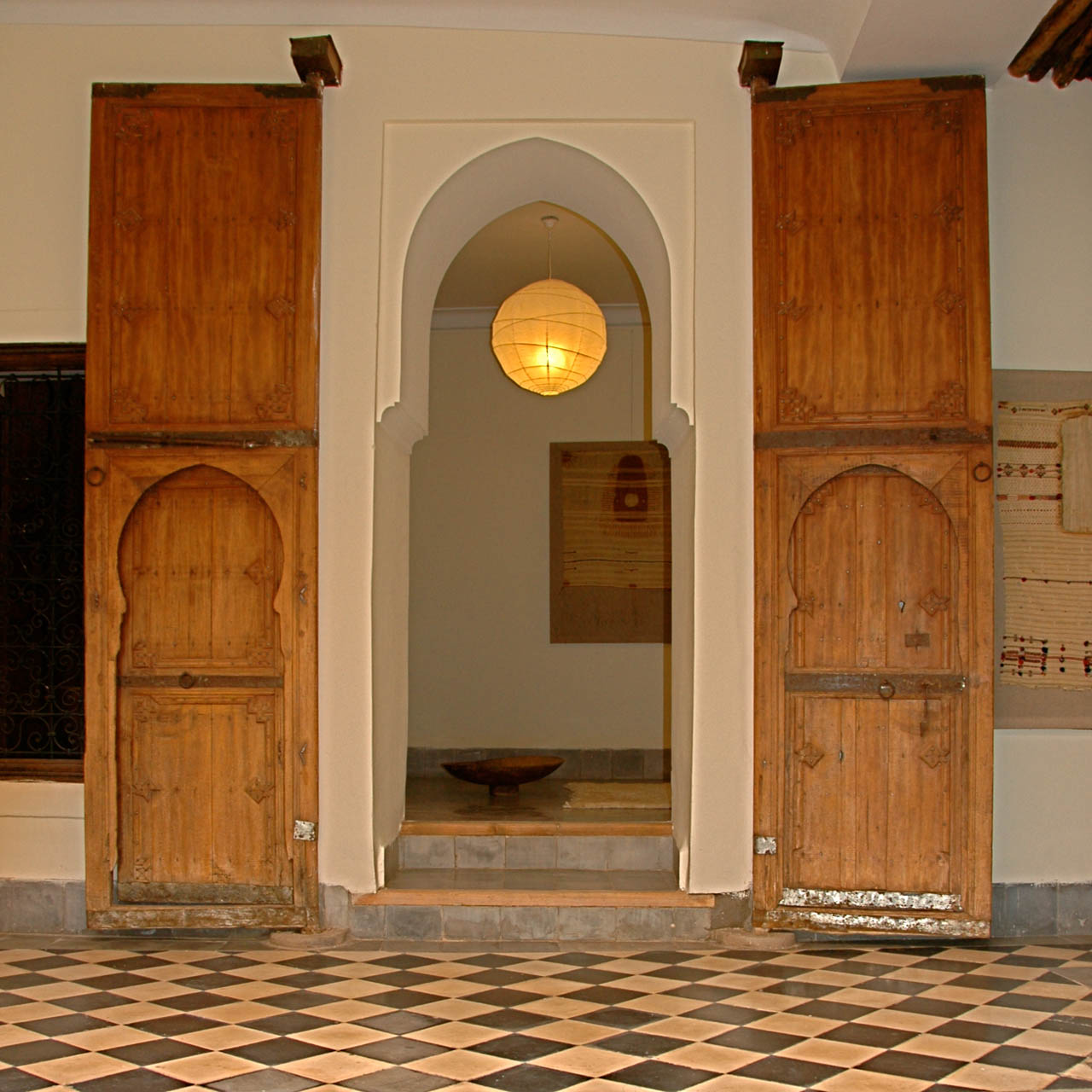 Doors to the bedroom