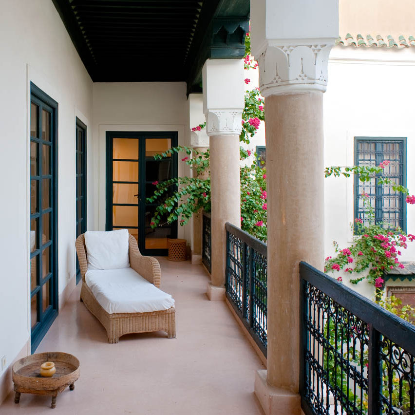 Balcony overlooking the main patio
