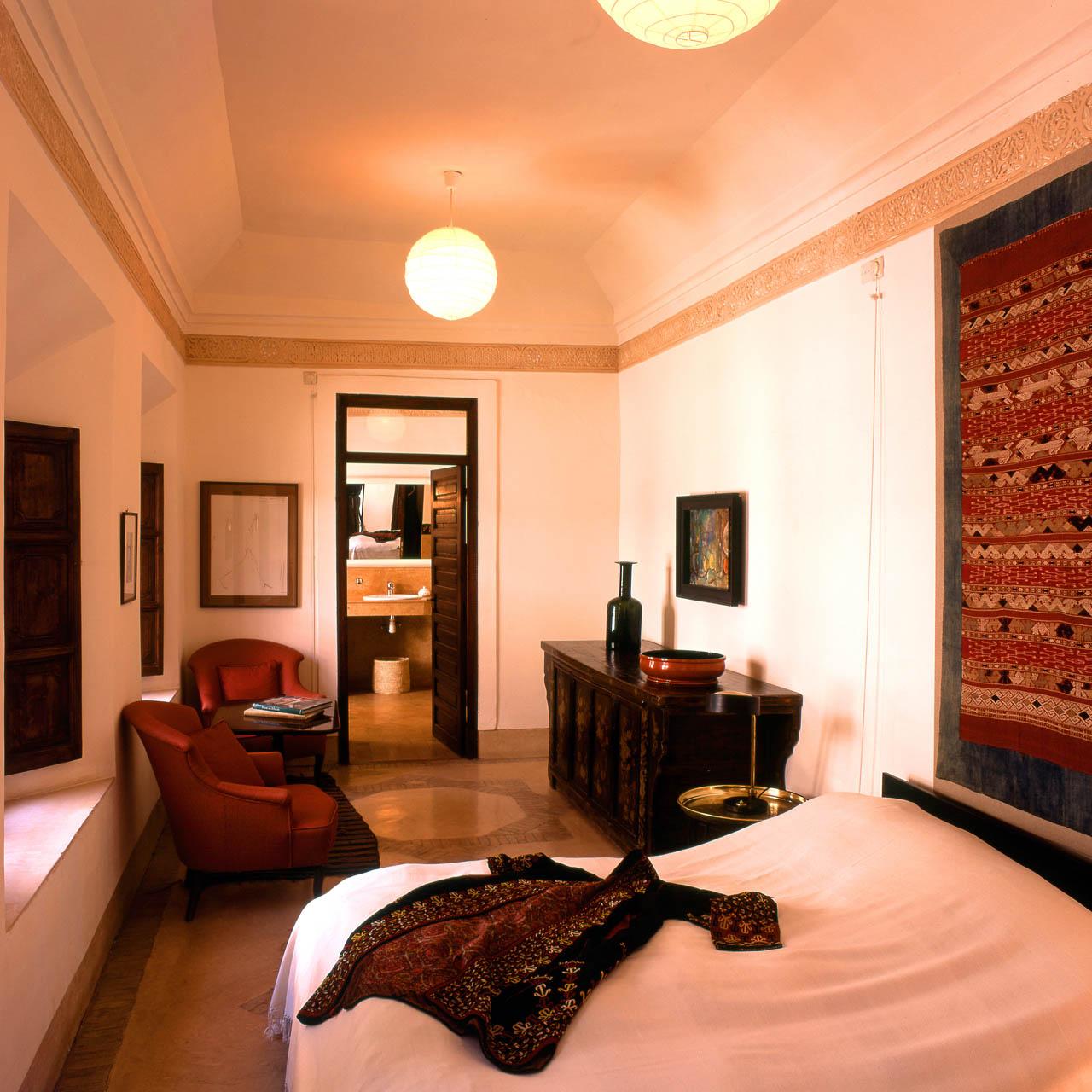 Schlafzimmer mit chinesischem Dekor