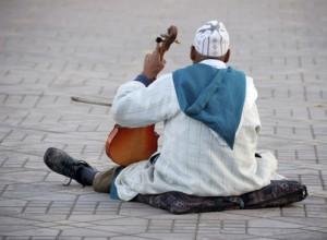Violinenspieler in Morocco