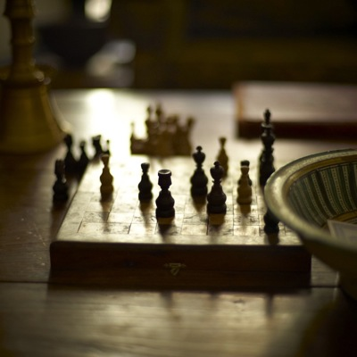 Chess play in the main salon