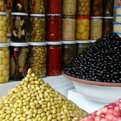 Olives market in Marrakesh
