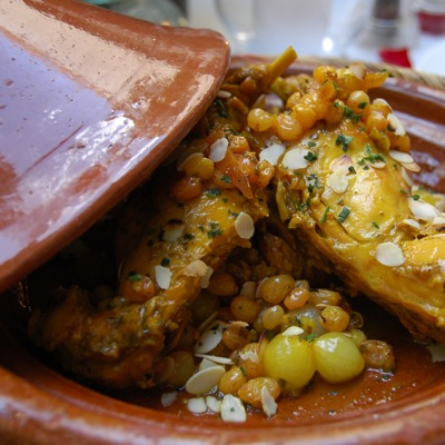 Tajine - Lapin aux raisins