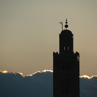 Koutoubia minaret - evening light