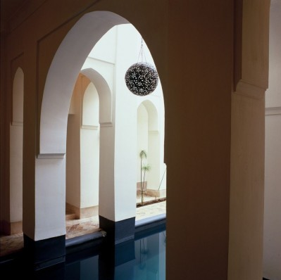Swimming pool under arcades